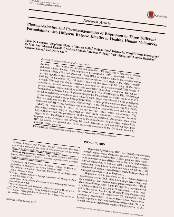 Bupropion Rating Summary
